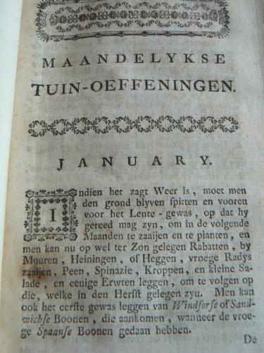 Januari, het begin van een nieuw tuinjaar.