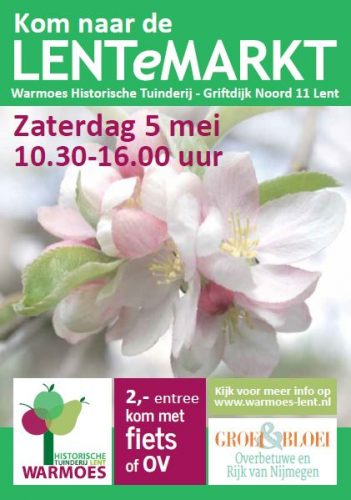 LENTeMARKT, Zaterdag 5 mei. @ Warmoes De Historische Tuin Lent | Nijmegen | Gelderland | Nederland